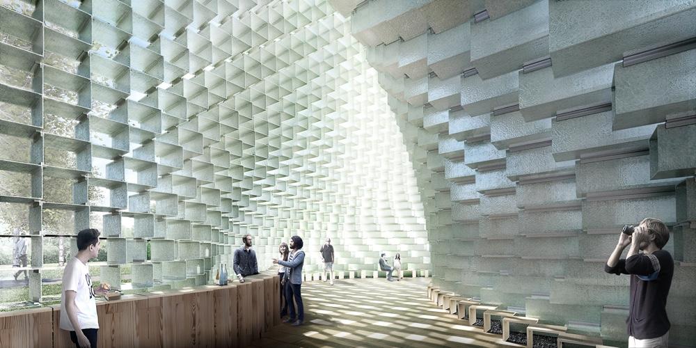 BIG Serpentine Gallery Pavilion interior