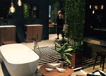 Bathroom design and decor that is draped in lover for nature by IDISTUDIO