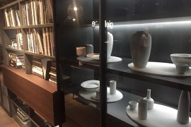 Beautiful bookshelves from giellesse at Salone 2016