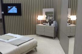 Bedroom furniture that include side table and bed