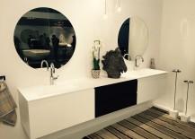 Black and white bathroom vanity from ArlexItalia