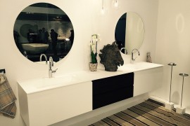 Black and white bathroom vanity from ArlexItalia