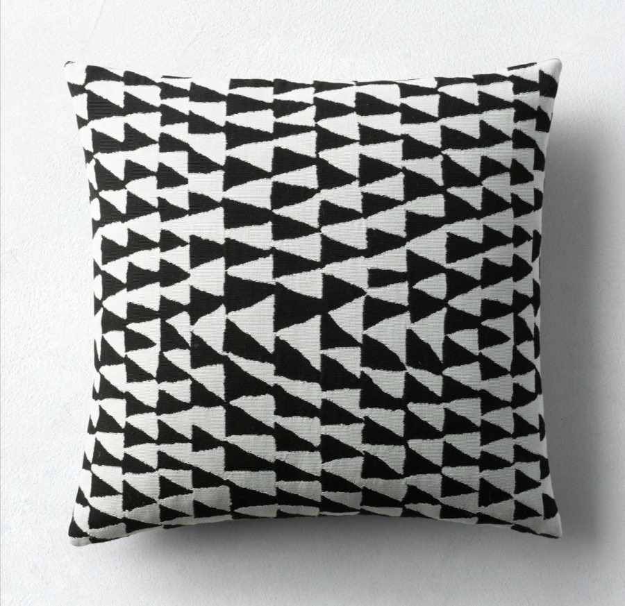 Black and white geo pillow cover from Restoration Hardware
