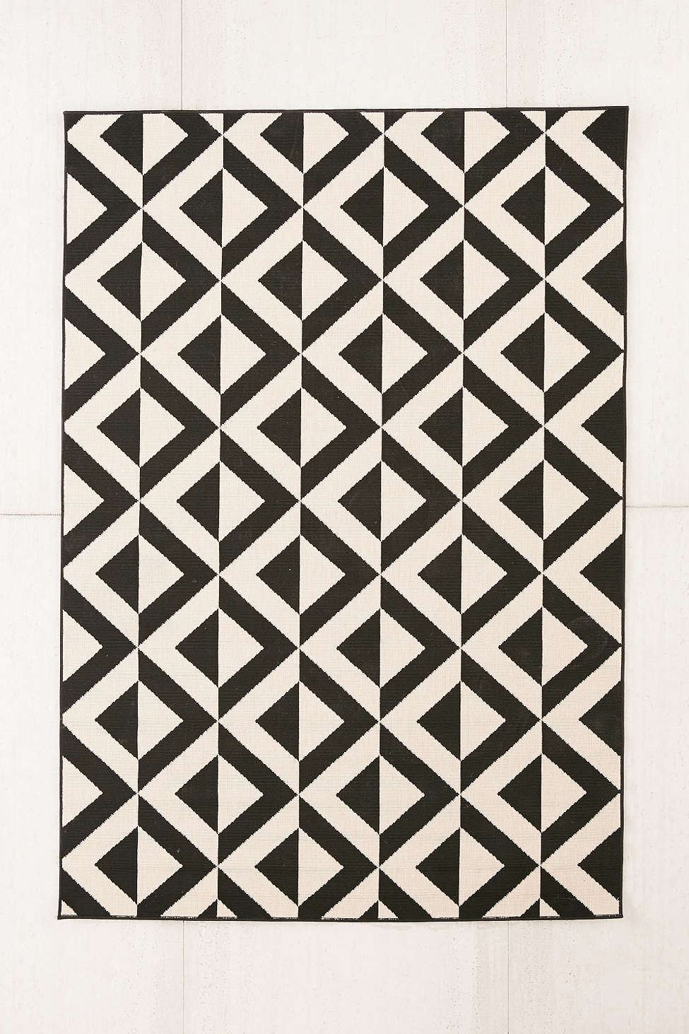 Black and white indoor-outdoor rug from Urban Outfitters