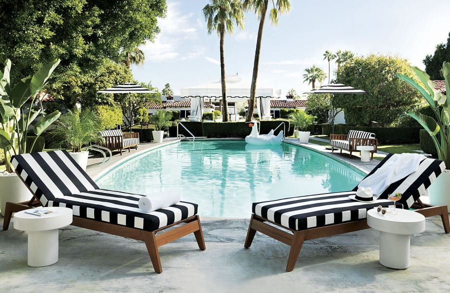 - Patio Furniture And Decor Trend: Bold Black And White