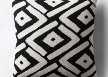 Black and white pillow cover from Restoration Hardware