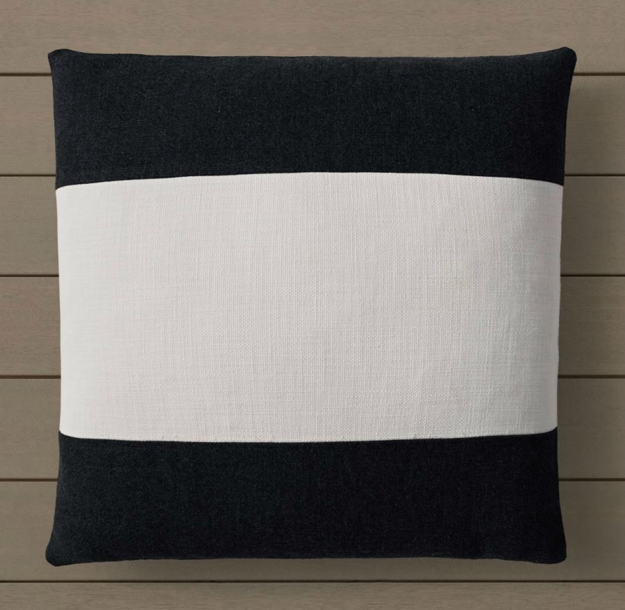 Black and white striped pillow cover from RH Modern