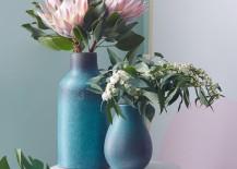 Blue ceramic vases from West Elm