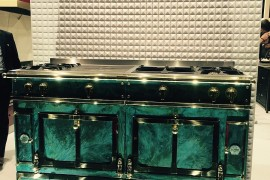 Bring a touch of luxury with malachite inspired La Cornue range