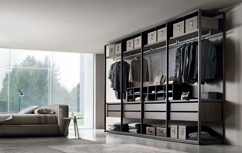 Bronze painted aluminum frame gives Pass its distinct look Fabulous Walk In Closets to Make Your Mornings a Lot More Organized!