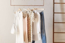 Ceiling-mounted clothing rack from Urban Outfitters