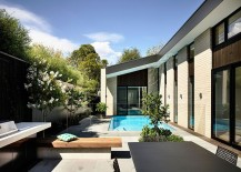 Central courtyard of the stylish home in a Melbourne suburb 217x155 Picturesque Aussie Home Wraps Itself Around a Relaxing Central Courtyard