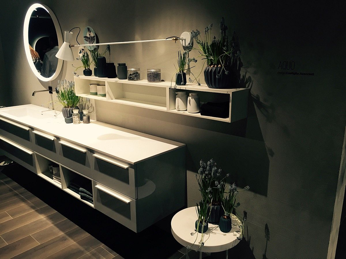 Classy Aquo bathroom by Scavolini at Salone del Mobile 2016