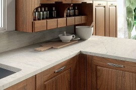Closer look at the worktop and cabinets of Contrada 270x180 Contrada: Time for a Modern Vintage Makeover from Arrital