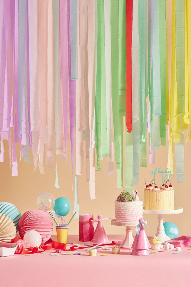 Colorful party table from Oh Happy Day!