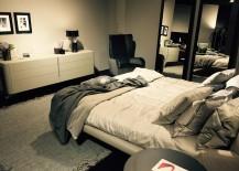 Comfy contemporary bed by Natuzzi at Salone del Mobile 2016