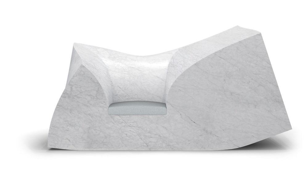 Compression sofa marble