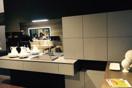 Contemporary bathroom vanity and matching cabinets by Archeda