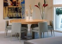 Contemporary dining room with the Romeo Moon S2 Pendant