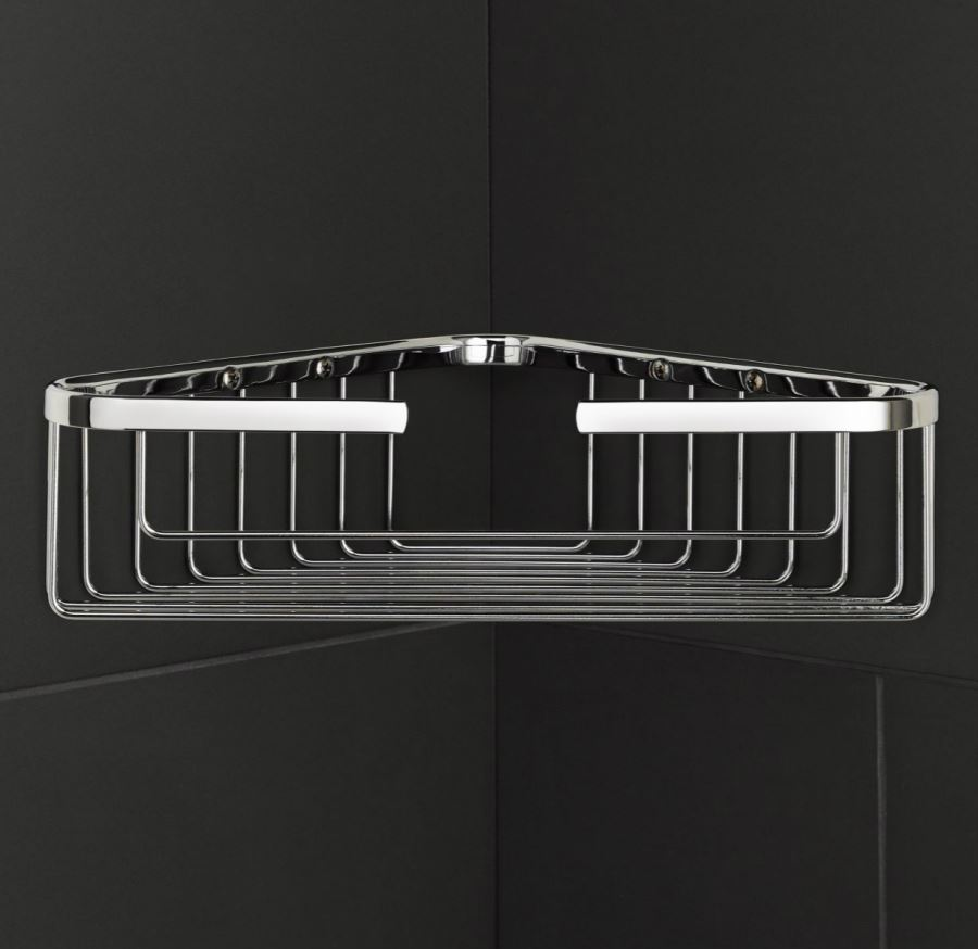 Corner shower basket from Restoration Hardware