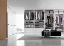 Create a seamless interface between the closte and the bedroom