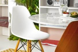 Custom details and classic decor shape the concrete box living space