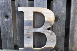 Custom wooden letter from Etsy shop Summer Design Shop