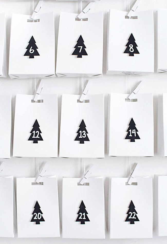 DIY advent calendar from Homey Oh My!