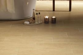 Durable porcelain tile for the powder room