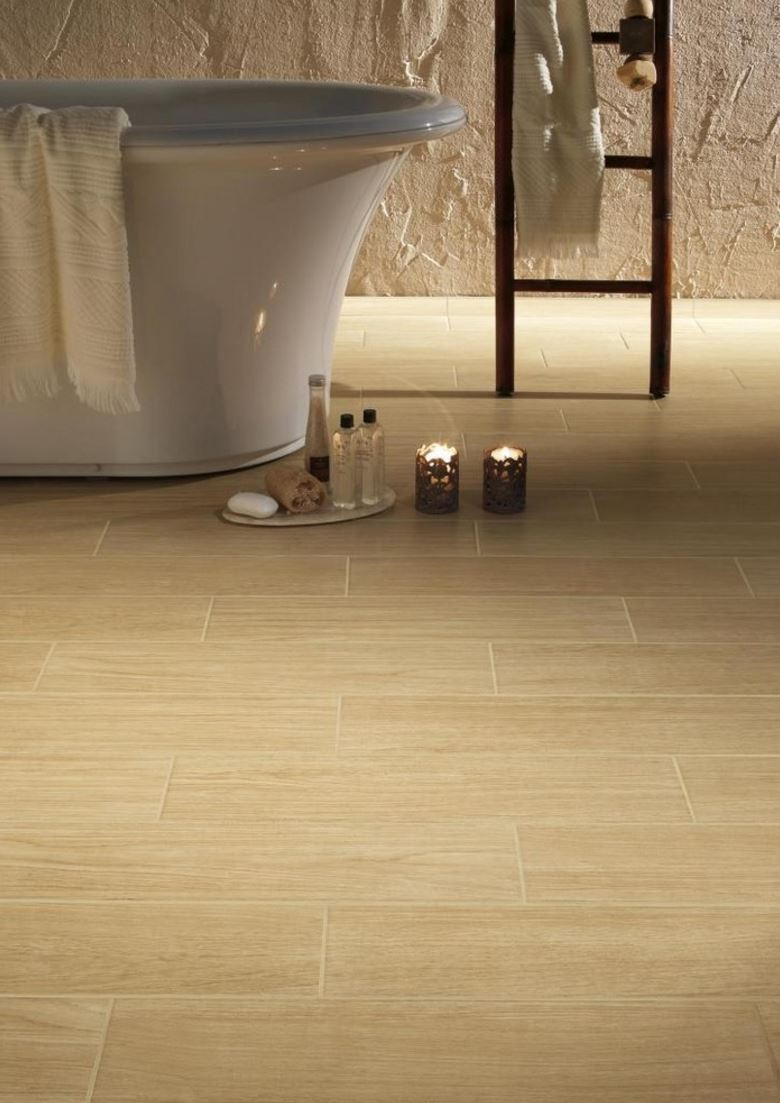 Durable porcelain tile for the powder room
