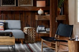 Earthy modern style from West Elm
