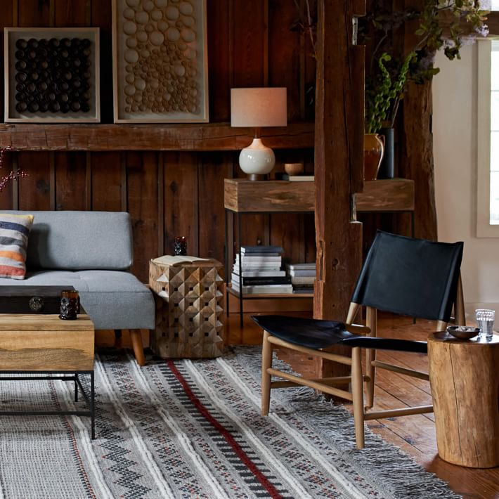 Earthy modern style from West Elm