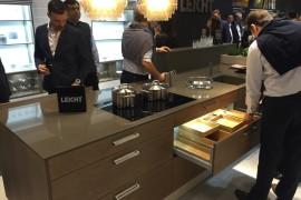 Exploring the storage units of the Leicht kitchen sland