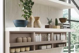 Fabulous open kitchen shelves for the minimal, contemporary kitchen