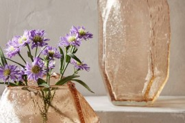 Faceted vases from Anthropologie