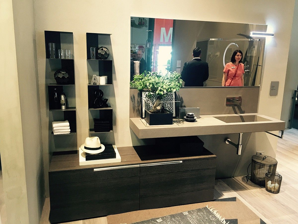 Floating vanity and bathroom storage from Agha, Ardeco and Artesi