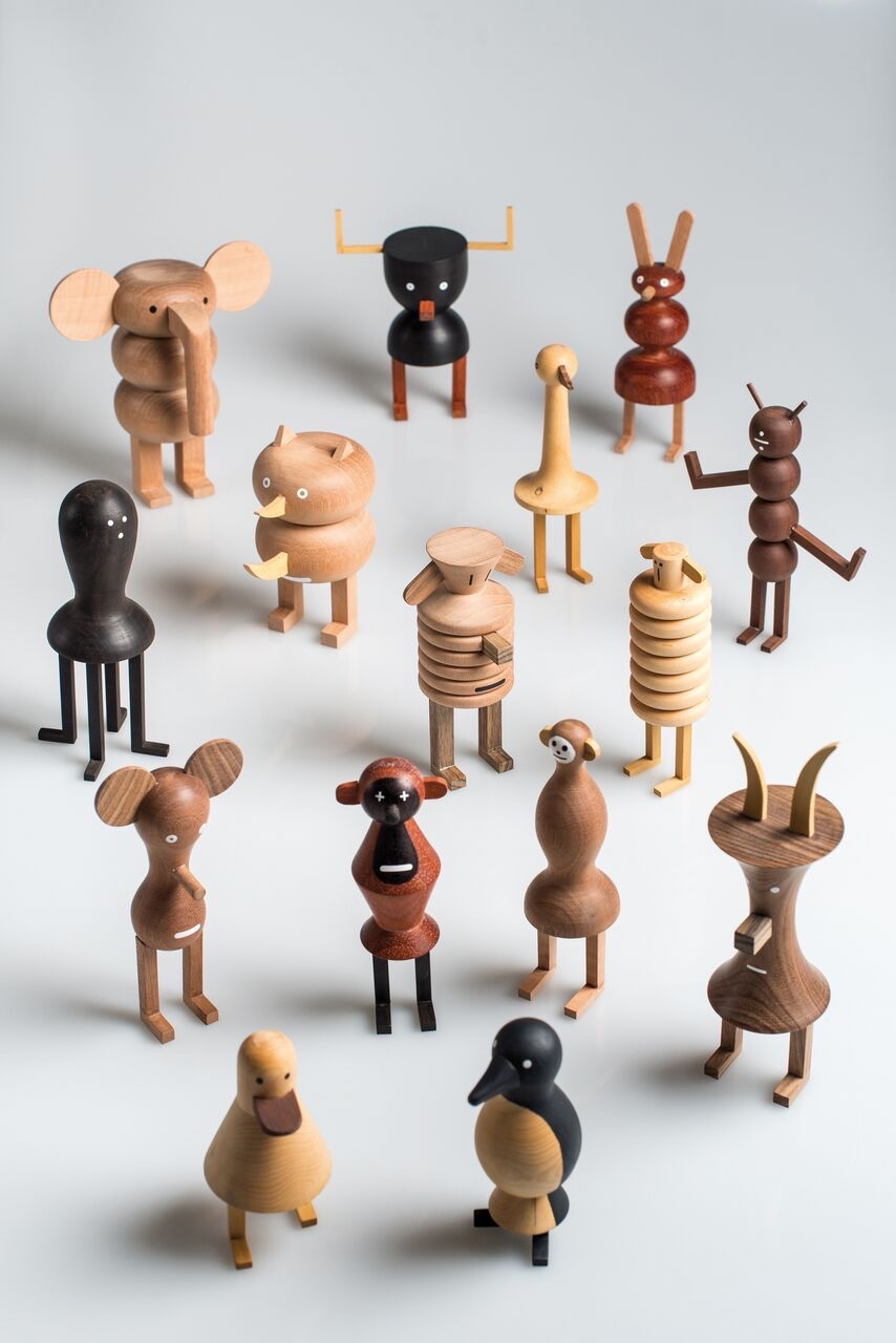 Funny Farm characters Life on the Funny Farm: A Quirky Family by Isidro Ferrer and LZF Lamps