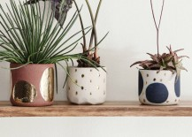 Gilded planters from Anthropologie
