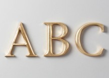 Gilded wooden letters from Restoration Hardware Baby & Child