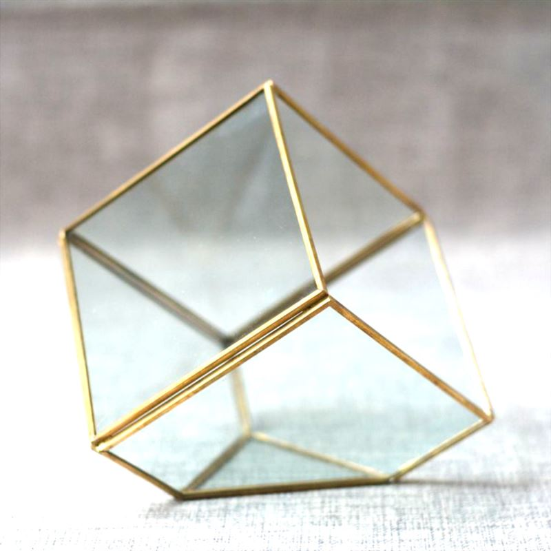 Glass and metal cube box from Etsy shop Janisilveris Design