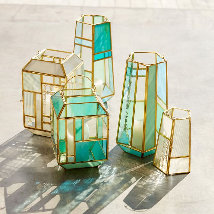 Glass lanterns from West Elm