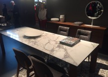 Goregous dining table with marble top from Calligaris - isaloni 2016