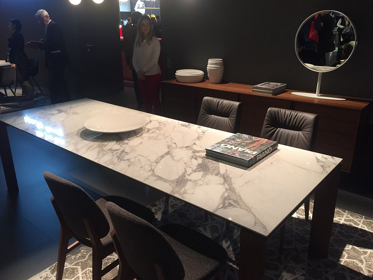 Goregous dining table with marble top from Calligaris – isaloni 2016