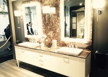 Gorgeous Magnifica bathroom designed by Gianni Pareschi at the International Bathroom Exhibition, Mialn 2016
