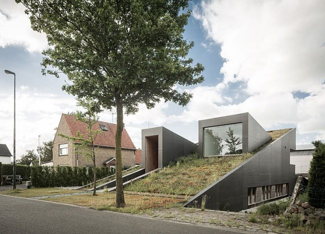 House Pibo: Partially Underground Home Turns Its Roof into an Extended Garden!
