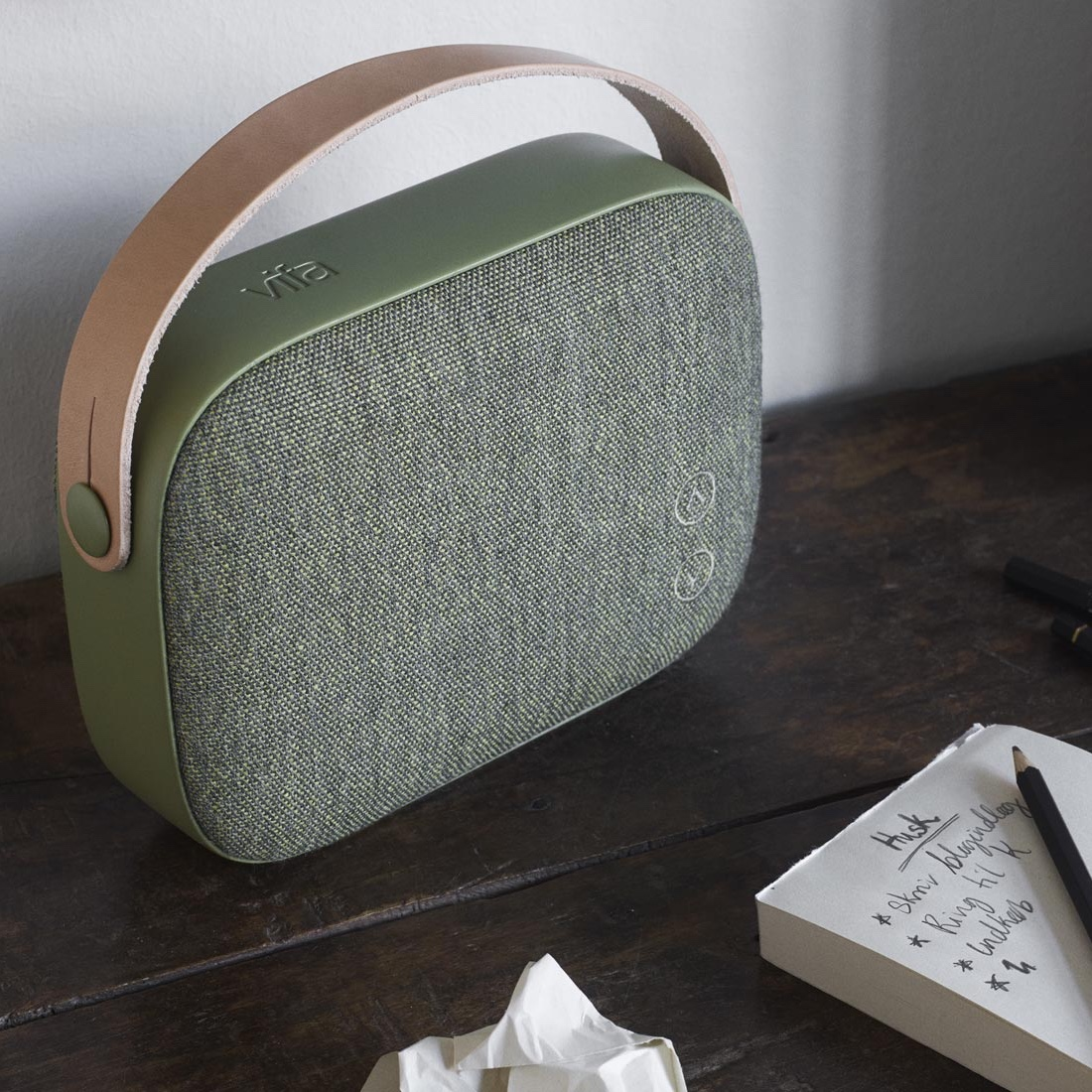 Helsinki loudspeaker in willow green
