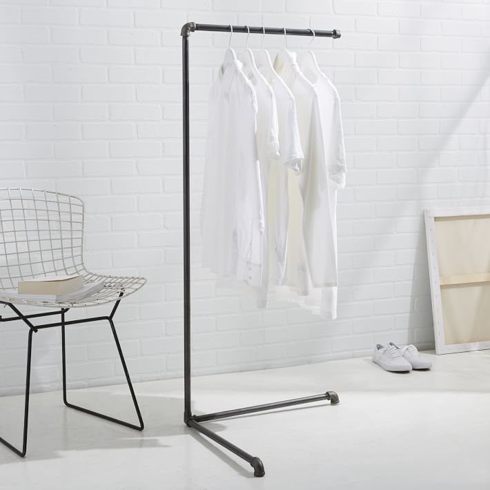 Industrial clothing rack from West Elm