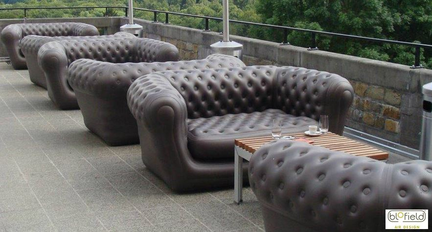 View In Gallery Inflatable Black Chesterfield Sofas From Blofield Air Design