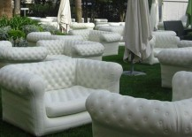 Inflatable sofas from Blofield Air Design