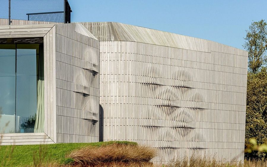 Ingenious facade of the W.I.N.D House in Holland near the sea